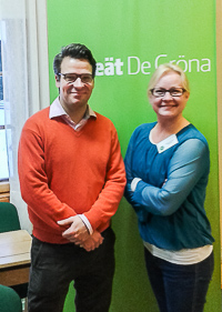 Ville Niinistö ja Hanna-Kaisa Heilimo Koijärvellä